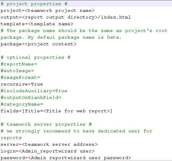 project.properties file