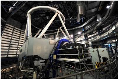 Figure 3. APE was developed to evaluate those sensors, and was installed on one of the 8m Very Large Telescopes (VLT) in Chile for sky tests