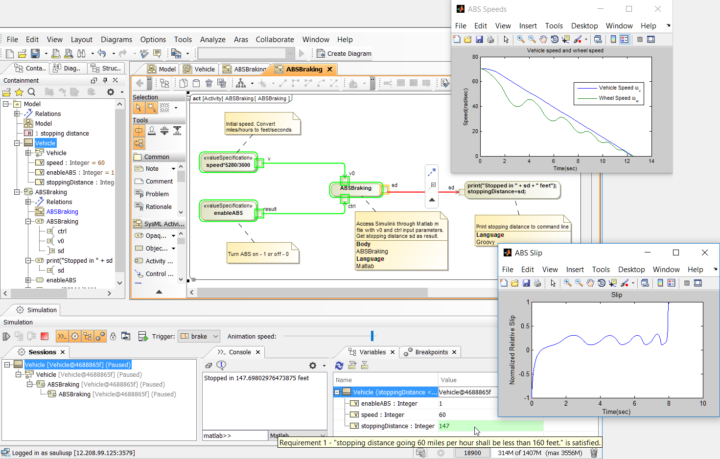 Overview of Current SysML/UML and MATLAB/Simulink
